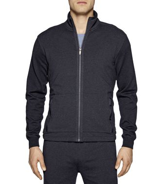 ZEGNA SPORT: Sweatshirt Blue - Steel grey - 43183051DG