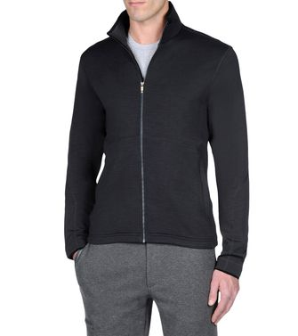 ZEGNA SPORT: Sweat-shirt Techmerino Bleu - Anthracite - 43188525AR