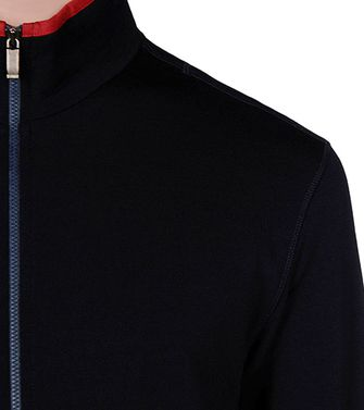 ZEGNA SPORT: Techmerino Sweatshirt Blue - Steel grey - 43188525JC