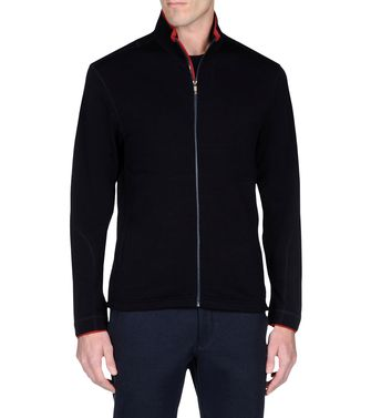 ZEGNA SPORT: Sweat-shirt Techmerino Bleu - Anthracite - 43188525JC
