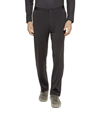 ZEGNA SPORT: Techmerino Jogging trousers Blue - Steel grey - 43188526SV