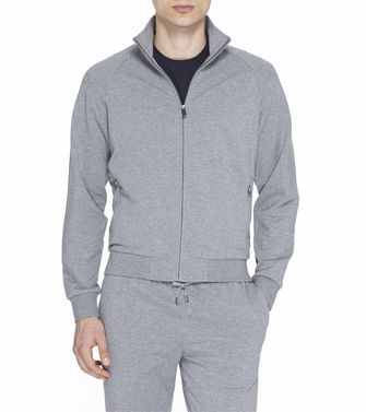 ZEGNA SPORT: Sweatshirt Blue - Steel grey - 43190638QW