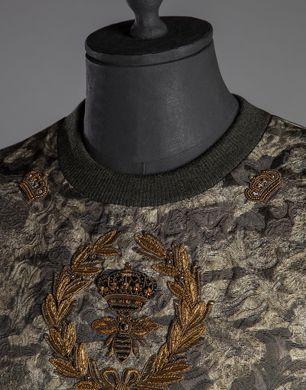 皇冠 蜜蜂刺绣迷彩圆领运动衫