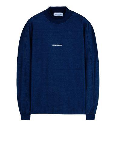 STONE ISLAND Sweatshirt 65635 INDIGO FLEECE