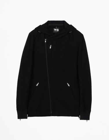 Y-3 WOOL JERSEY HOODIE SWEAT SHIRTS man Y-3 adidas