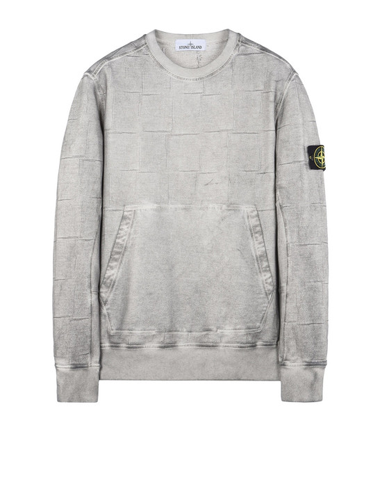STONE ISLAND Sweatshirt 610J3 SI HOUSE CHECK WITH DUST COLOUR TREATMENT