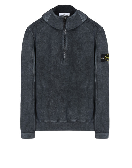 STONE ISLAND Sweatshirt 611J3 SI HOUSE CHECK WITH DUST COLOUR TREATMENT