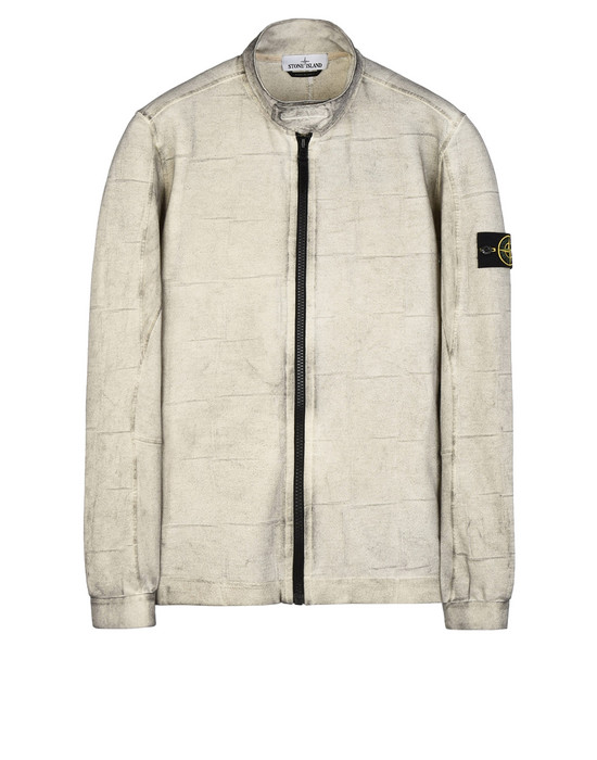 STONE ISLAND Zip sweatshirt 614J3 SI HOUSE CHECK WITH DUST COLOUR TREATMENT