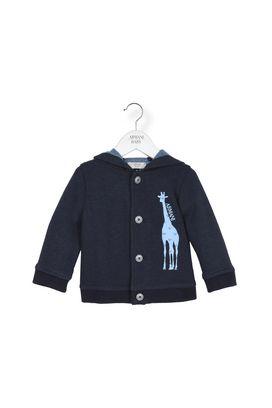 Armani Hoodies Men hooded 4 button jersey cardigan