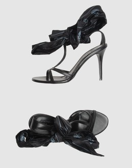 ALEXANDER MCQUEEN Women - Footwear - High-heeled sandals ALEXANDER MCQUEEN on YOOX :  arrivals shoes leather pump accessories