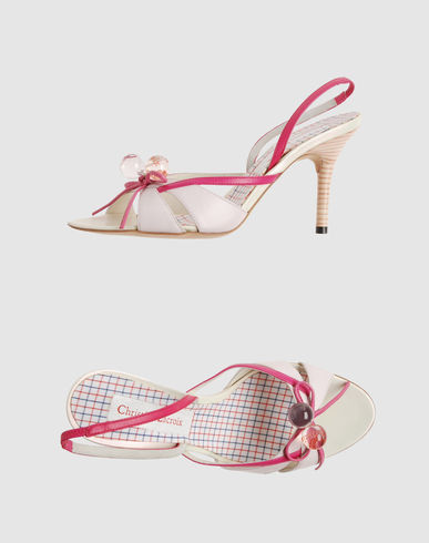 CHRISTIAN LACROIX Women - Footwear - High-heeled sandals CHRISTIAN LACROIX on YOOX :  gucci lacroix dg sandals