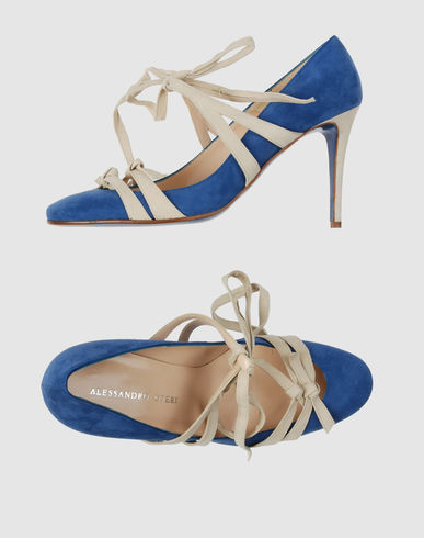  Closed-toe slip-ons ALESSANDRO OTERI on YOOX :  blue straps heels shoes
