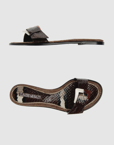 CLAUDIO MERAZZI Women - Footwear - Sandals CLAUDIO MERAZZI on YOOX :  slippers