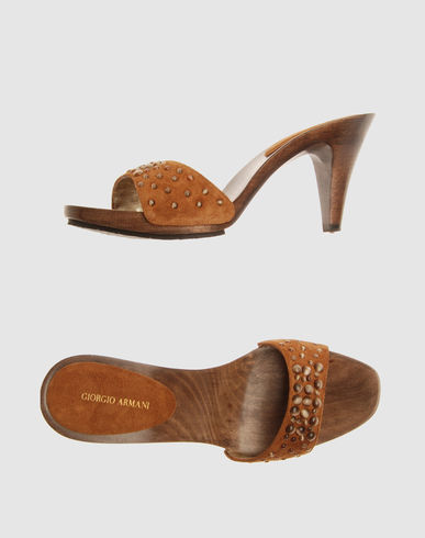 GIORGIO ARMANI Women - Footwear - High-heeled sandals GIORGIO ARMANI on YOOX :  slides fashion footwear high
