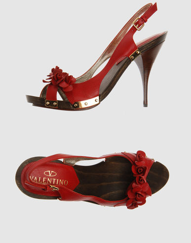 High-heeled sandals VALENTINO GARAVANI on YOOX :  sling back heels sandals shoes