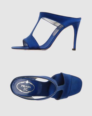 PRADA Women - Footwear - High-heeled sandals PRADA on YOOX :  blue heels sandals shoes