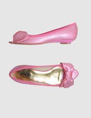 GLITTER PINK - Ballerine open toe