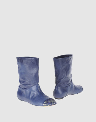 FABI Women - Footwear - Ankle boots FABI on YOOX :  blue studded fashion blue boots