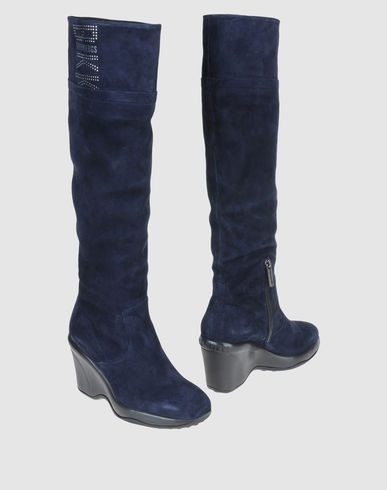 BIKKEMBERGS Women - Footwear - High-heeled boots BIKKEMBERGS on YOOX :  blue wedge fashion blue boots