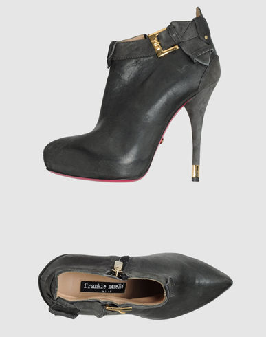 FRANKIE MORELLO - Shoe boots  :  leather boots booties short boots blak leather boots