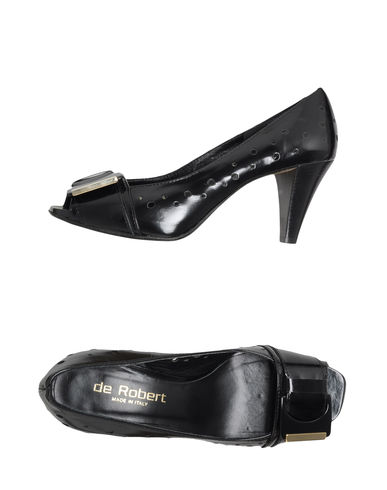 DE ROBERT - Pumps with open toe