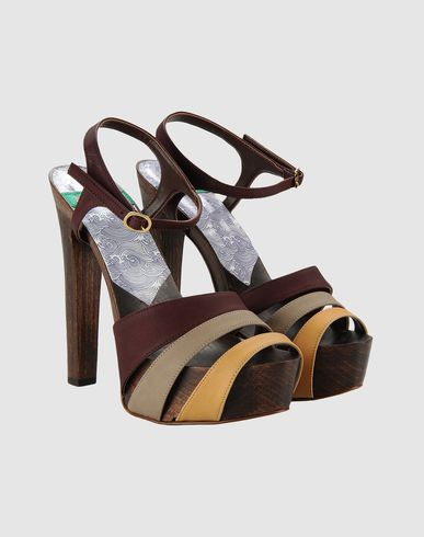 MINK VEGAN SHOES - Platform sandals