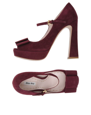 MIU MIU - Courts with open toe