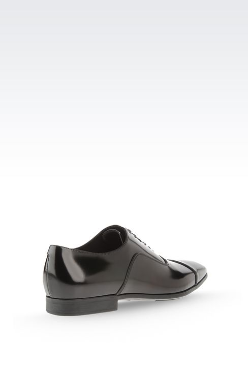 Brushed calfskin lace-up: Lace-up shoes Men by Armani - 3
