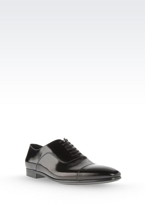 Brushed calfskin lace-up: Lace-up shoes Men by Armani - 2