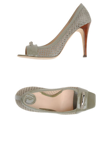 TRUSSARDI - Courts with open toe