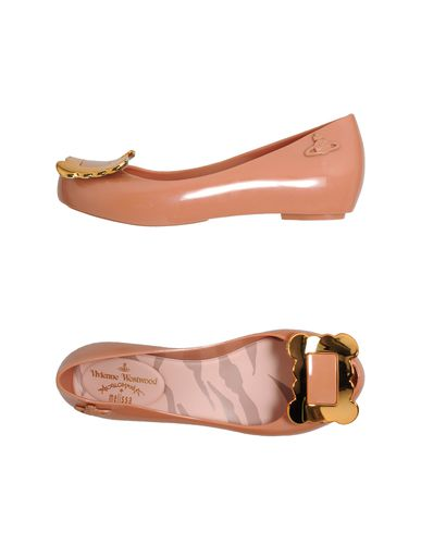 VIVIENNE WESTWOOD ANGLOMANIA + MELISSA - Peep-toe ballet flats