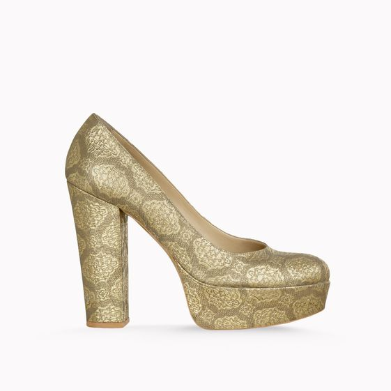 Stella McCartney, Bailey Pumps aus edlem Brokat, 125 mm