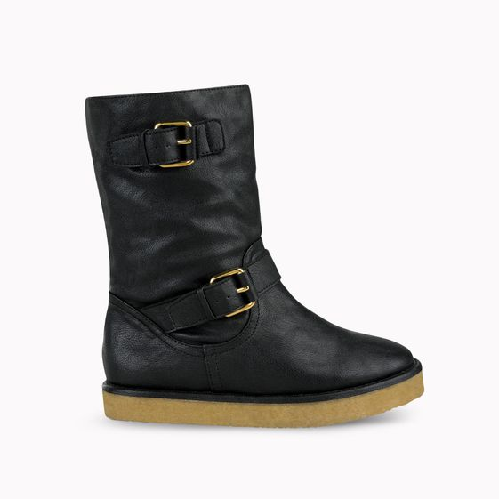 Stella McCartney, Black Harper Faux Nappa Biker Boot