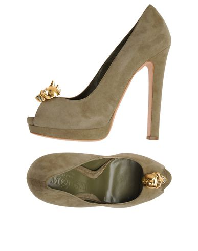 ALEXANDER MCQUEEN - Pumps with open toe