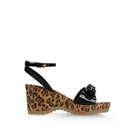 STELLA McCARTNEY, Sandals, Linda Patent and Leopard Print Sandals