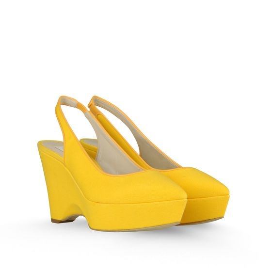 Stella McCartney, Nathalie Canvas Wedges 100mm