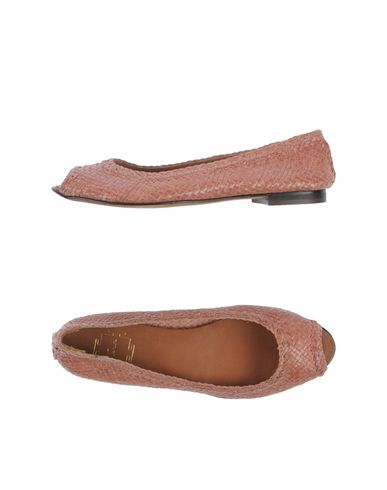 TARA - Peep-toe ballet flats