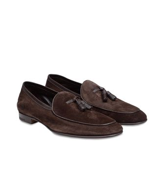ERMENEGILDO ZEGNA: Loafers Pastel blue - Dark brown - Brown - 44483211AC