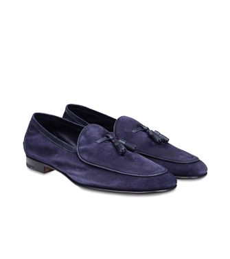 ERMENEGILDO ZEGNA: Loafers Pastel blue - Dark brown - Brown - 44483211KF