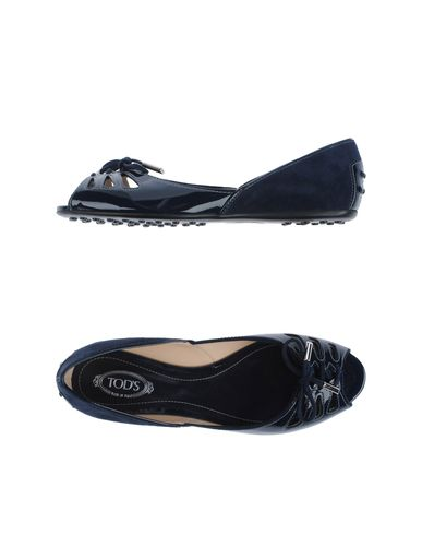 TOD&#39;S - Peep-toe ballet flats
