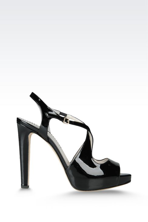 open toe sandal with crossover straps: Platform sandals Women by Armani - 1