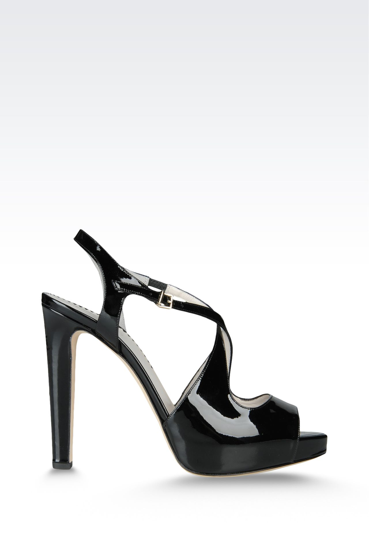 open toe sandal with crossover straps: Platform sandals Women by Armani - 0