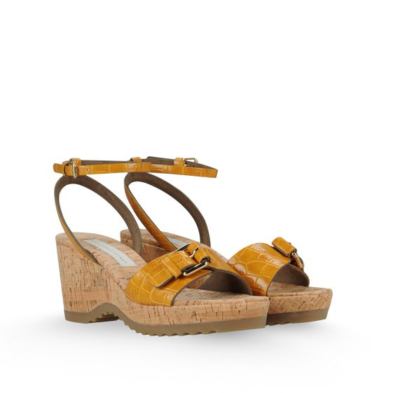 Stella McCartney, Sandalen Linda aus Kunstkrokoleder 70 mm