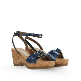 STELLA McCARTNEY, Wedges, Sandalen Linda aus Kunstkrokoleder 70 mm