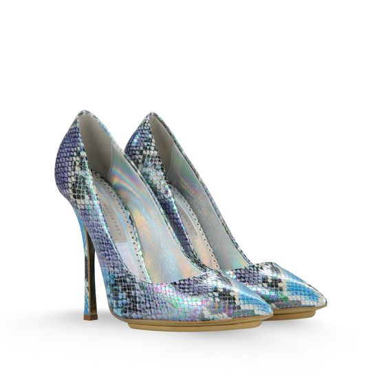 Stella McCartney, Gwen Hologram Faux Python Court 120mm