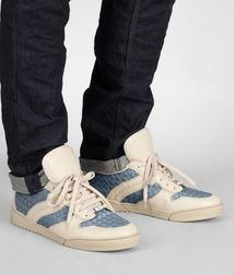 BOTTEGA VENETA - Sneakers, Krim Antique Intrecciato Calf Sneaker
