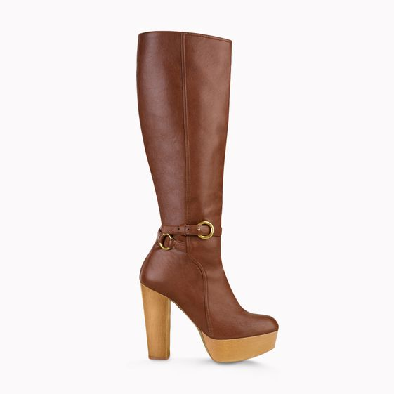 Stella McCartney, Praline Faux Nappa Bailey Knee Boots
