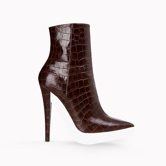 Stella McCartney, Escarpins en faux croco Lauren talon 13,5cm
