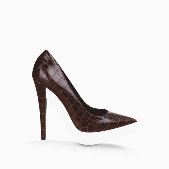 Stella McCartney, Pumps Lauren in Krokoleder-Optik 135 mm