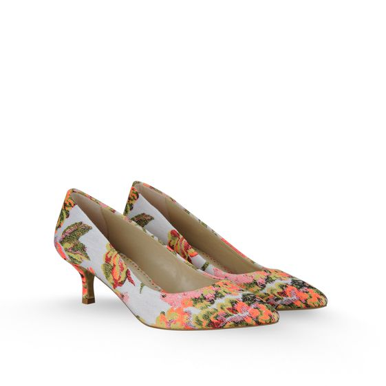 Stella McCartney, Décolleté Gwen in Jacquard a Fiori 50 mm